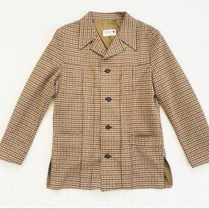 Rare Vintage The Knack Brown Gingham Blazer Jacket